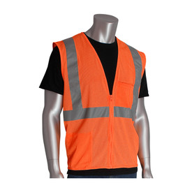 PIP 302-0702Z Value Mesh 2 Pocket Class 2 Safety Vest