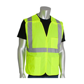 PIP 302-5PMV ANSI 2 Mesh BreakAway 3 Pocket Safety Vest