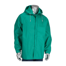 PIP 205-420JH FR Treated Green Chemical Hooded Jacket