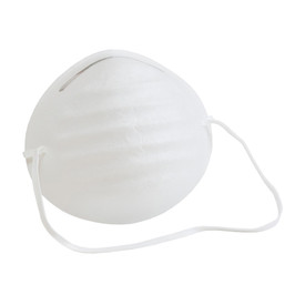 PIP Disposable Latex Free White Dust Face Mask - White disposable elastic strap dust safety face mask.