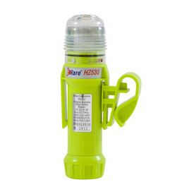 E-Flare Hi-Viz Lime Emergency Beacon Mounting Clip - Portable clip on bright high visibility yellow safety flashing beacon with specialized mounting clip.