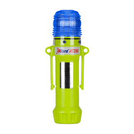 E-Flare Public Safety 1 Color Flash 8 LED Emergency Beacon - Portable high visibility yellow body clip on emergency safety blue beacon.