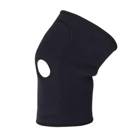 PIP Latex Free Contour Fit Support Knee Pad - Dark gray therapeutic warming knee support pad for stress relief.
