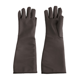 Temp-Gard Liquid Proof Extreme Temp Elbow Gloves - Dark black water proof thermal safety work gloves with long elbow length guard.