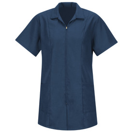 Red Kap Women's Zipper Front 2 Pocket Housekeeping Smock