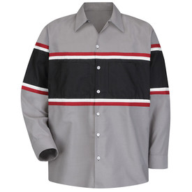 Red Kap SP14GM Men's Multi Stripe Technician Work Shirt