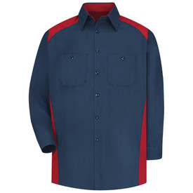 Red Kap SP18 Men's 2 Pocket Motorsports Shirt