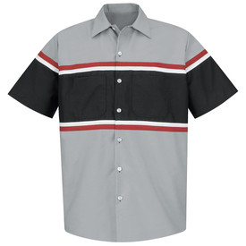 Red Kap SP24 Men's 2 Pocket Short Sleeve Technician Shirt