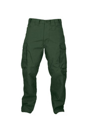 True North Dragon Slayer DWPST 7 oz Tecasafe Plus Flame Resistant Pants  - Green flame resistant pants with side cargo pockets, front pockets, belt loops and button closure with zipper.
