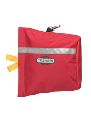 True North MB600R Side Winder Mask Bag - Compact red pack with reflective strip for transporting scuba masks on the go.