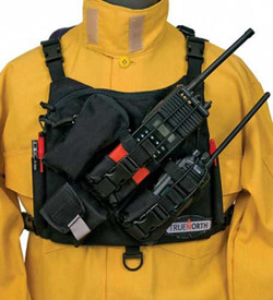 True North RH6200 Chest Radio Dual Harness - Over chest harness to carry hand held radios.