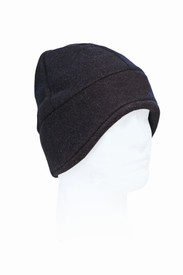 True North DF910 FR Nomex Fleece Helmet Hat - Black thermal fleece helmet hat with added ear protection for warmth.