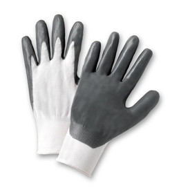 West Chester 713SNC Gray Nitrile Abrasion Resistant Glove