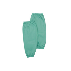 West Chester IronTex Flame Resistant Cotton Welding 2 End Elastic Sleeves - Dark green flame resistant double end elastic welding sleeves.