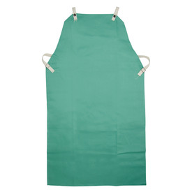 West Chester IronTex Flame Resistant Cotton Welding Apron - Dark green flame resistant double end elastic welding apron with size adjustable clips.