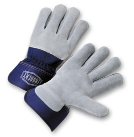 IronCat IC65 Cowhide Leather Back Elastic Wrists Work Gloves