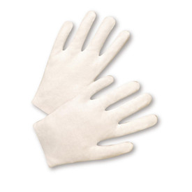 West Chester 100% Cotton Lisle Gloves - Pair of two easy fit cotton safety work gloves.