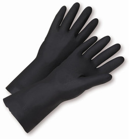 West Chester 32212 Black Unsupported Neoprene Flock Gloves