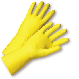 West Chester 2312 Yellow Latex Flock Lined Premium Gloves