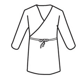 West Chester Disposable White Wrap Smock - White safety disposable cover smock with front tie straps.