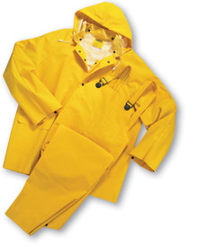 West Chester 4035FR Yellow Flame Resistant 3 Pc Rain Suit