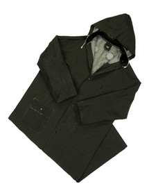 West Chester 4160BFR Black Flame Resistant 60 In Rain Coat