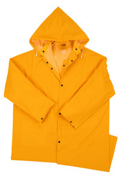 West Chester 4148 Mid Length 48 Inch Yellow 35 mil Rain Coat
