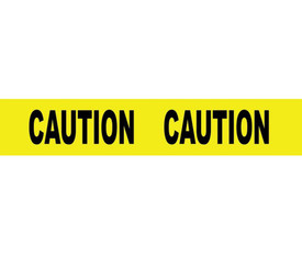 Caution Printed 3 Inch Barricade Tape