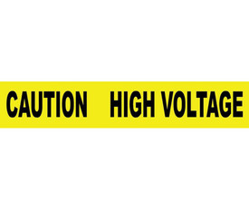 Caution High Voltage Printed 3 Inch Barricade Tape