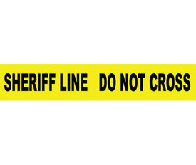 Sheriff Line Do Not Cross Printed 3 Inch Barricade Tape
