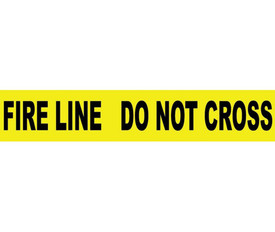Fire Line Do Not Cross Printed 3 Inch Barricade Tape