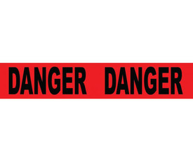 """Danger Do Not Cross 3 Inch Printed Barricade Tape - Aris Industrial Barricade Tape with the word """"DANGER"""" on red background in black text"""