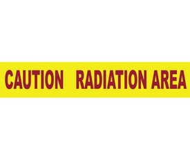 Caution Radiation Area Printed Barricade 3 Inch Tape