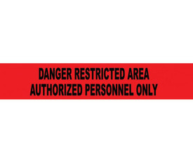 Restricted Area Authorized Personnel Only Printed 3 Inch Barricade Tape