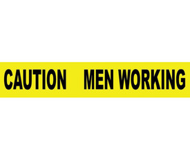 Caution Men Working Printed Barricade 3 Inch Tape