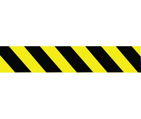 Caution Men Working Black Yellow Striped Barricade Tape