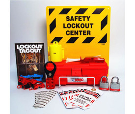 Electrical Lockout Center With Supplies