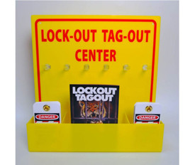 Yellow Acrylic Lockout Tagout Center