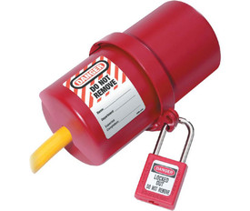Electrical Red Plug Lockout Rotating