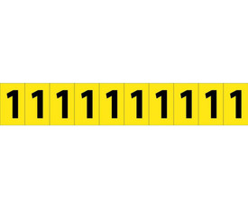 Self Adhesive Single Numbers 1 Inch 0 to 9