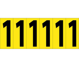 3 Inch Self Adhesive Single Numbers 0 to 9