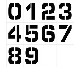 Individual Number Stencil Sets 0 to 9