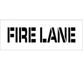 """Marking Stencil Fire Lane Parking Lot - Aris Industrial  stencil with the words """"FIRE LANE"""""""