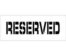 """Reserved Parking Marking Stencil - Aris Industrial  stencil with the words """"RESERVED"""""""