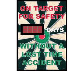 On Target Safety Days Without Lost Time Accident Scoreboard