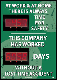 At Work & At Home Lost Accident Time LED Scoreboard Tracker