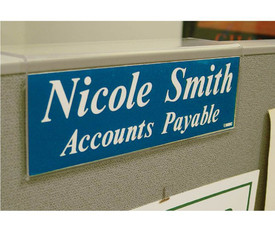 Acrylic Office Cube Partition Sign Holders