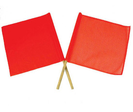 Traffic Flags With Handles - Aris Industrial Two diagonal safety flag - red and orange
