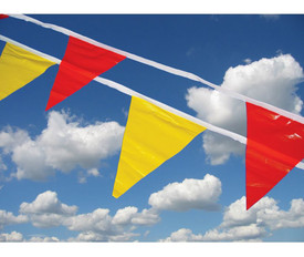 Event 12 Foot Pennant Flags - Aris Industrial Red and Yellow pennant flag