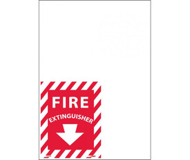 Fire Extinguisher Striped Red And White Edge Signs